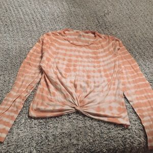 Pink/Victoria's Secret tie-dye shirt